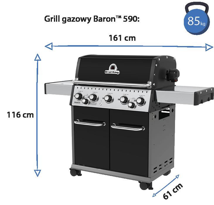 grill baron 590 wymiary