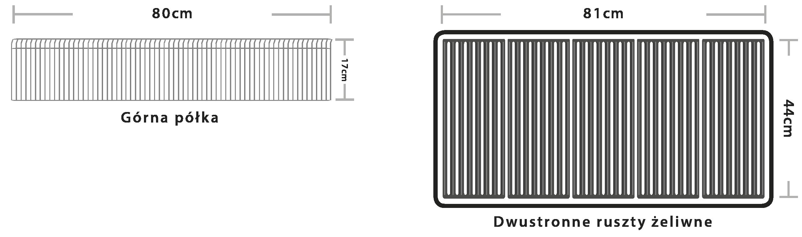 wymier rusztów w grillu Baron 590
