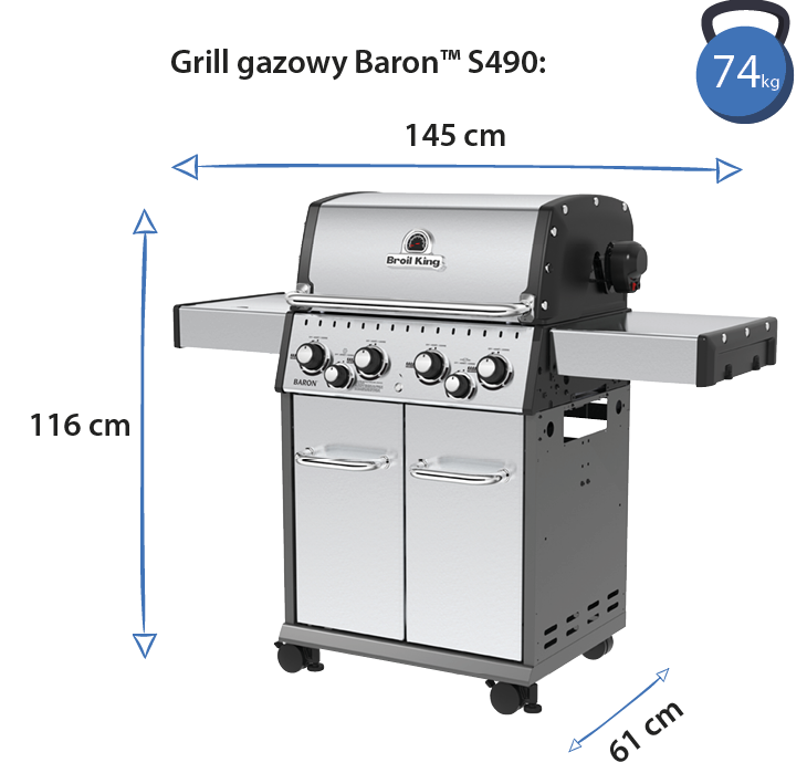 grill baron s490