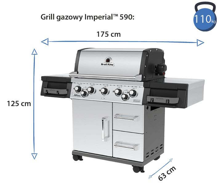 grill broil king imperial 590 wymiary