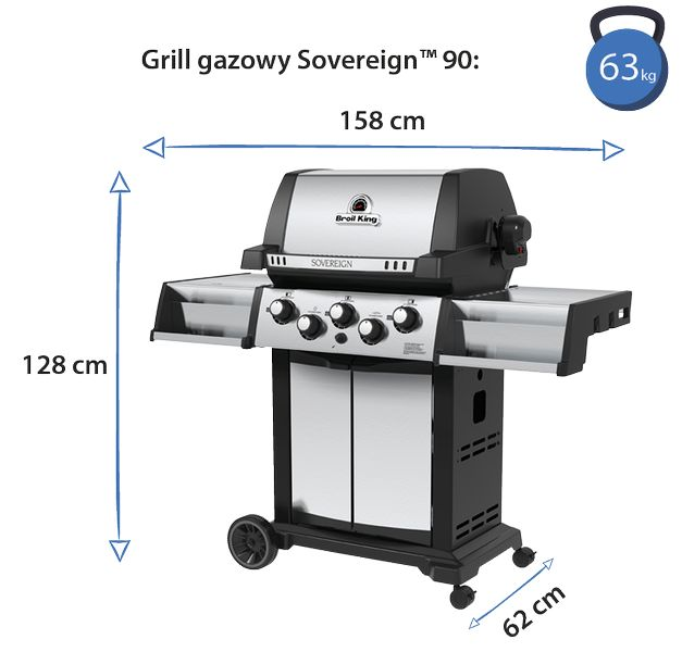 broil king sovereign 90 wymiary